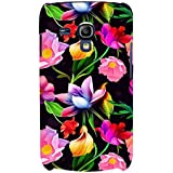 For Samsung Galaxy S3 Mini I8190 :: Samsung I8190 Galaxy S III Mini :: Samsung I8190N Galaxy S III Mini Floral Pattern ( Flower Pattern, Red Flower, Flower, Black Background ) Printed Designer Back Case Cover By FashionCops