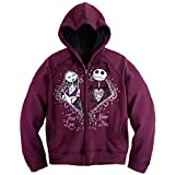 Jack Skellington and Sally Womens' Zip Front Hoodie