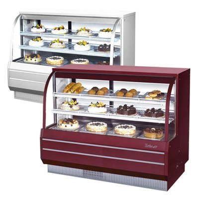 Turbo Air Tcgb-60-Co - 60-Inch Curved Glass Refrigerated/Dry Bakery Display Case front-611569