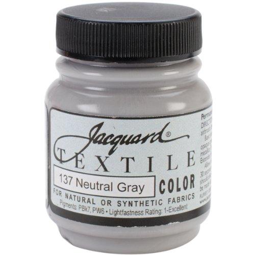 Jacquard Textile Color Fabric Paint 2.25 Ounces-Neutral Gray