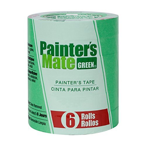 painters-mate-668840-green-8-day-painting-tape-094-inch-by-60-yard-6-pack-of-rolls-by-duck