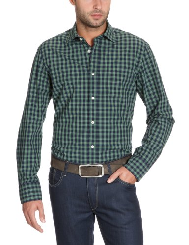 Marc O'Polo Men's 229 1058 42098 Casual Shirt Green (472 Vineyard Green) 52