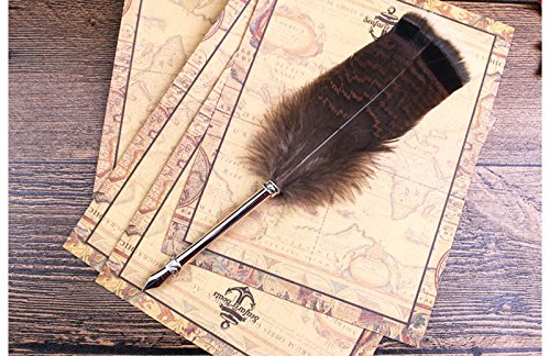 ECVISION Antique Dip Feather Pen Set Calligraphy Pen Set Writing Quill Ink Dip Pen 2