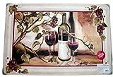 Red Wine Grape French Provincial Tuscan Vineyard Home Decor ANTI-FATIGUE ergonomic CUSHIONED COMFORT MAT kitchen bathroom area throw rug