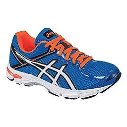 ASICS GT 1000 4 GS Running Shoe (Little Kid/Big Kid), Electric Blue/White/Orange, 2.5 M US Little Kid