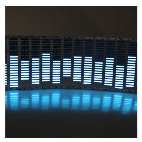Imagen de AGPtek ® 45 * 11cm Sound Music Activado etiquetas engomadas del coche del equalizador del resplandor de luz LED azul (Ahorro de espacio, bajo consumo de energía)
