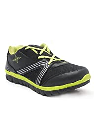 Castel Men's Black Yellow Mesh Eva Resin Sports Shoes