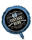 Creative Converting Vintage Dude 40th Birthday 2 Sided Round Mylar Balloon By Creative Converting