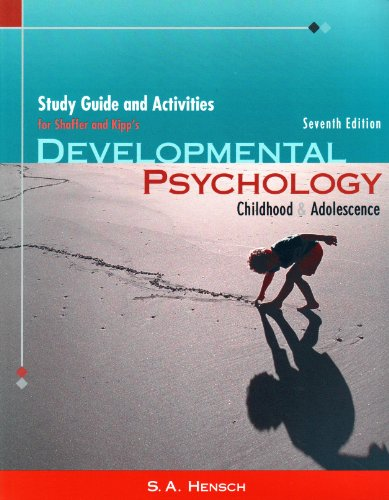 Developmental Psychology: Childhood and Adolescense: Childhood and Adolescence: Study Guide