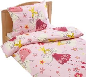 Kinzler q 17228 10 lenzuola principessa per bambini federa 40 x 60 cm copripiumino 100 x 135 - Lenzuola per bambini letto singolo ...