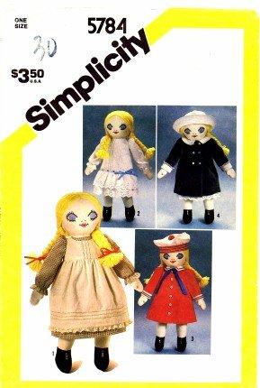 Simplicity 5784 Crafts Sewing Pattern Melissa Victorian Doll & Wardrobe