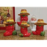 Chili Pepper 4pc Deluxe Canister Set