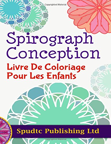 Spirograph Design Coloring Book for Kids