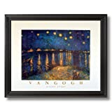 Vincent Van Gogh Night Stars #3 Home Decor Wall Picture Black Framed Art Print