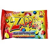Zappers Mega Sour Bubble Gum - 30 pack