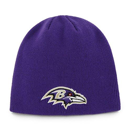 Nfl Baltimore Ravens Men'S Beanie Knit Cap, One Size, Purple front-907751