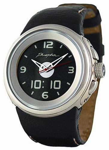 Phosphor Unisex P-0102 Ana-Digi E-INK Display Leather Band Watch