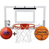 "Spalding NBA Slam Jam Mini Basketball Hoop Deluxe Set with Exclusive ""Matty's Toy Stop"" 4.25"" Vinyl Basketball"
