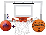 Spalding NBA Slam Jam Mini Basketball Hoop Deluxe Set with Exclusive