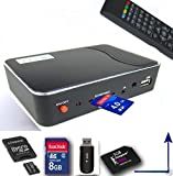FREEVIEW SET TOP BOX + RECORDER Digital TV Tuner/Receiver Records onto SD Card or USB Memory, DVB-T Digi Box for Switch over by Digi-fun®