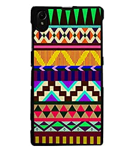 ColourCraft Tribal Pattern Design Back Case Cover for SONY XPERIA Z1