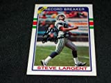 Seattle Seahawks Steve Largent Auto Signed 1989 Topps Card #4 VINTAGE K at Amazon.com