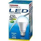 東芝 E-CORE(イー・コア) LED電球 420lm E26口金 昼白色 密閉器具対応 LDA6N/3