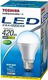 TOSHIBA E-CORE(イー・コア) LED電球(密閉器具対応・フィンレス構造・E26口金・一般電球形・白熱電球30W相当・420ルーメン・昼白色) LDA6N/3