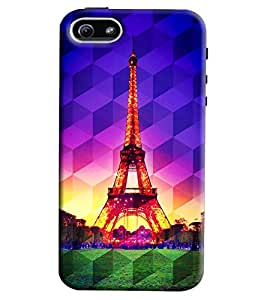 Clarks Eiffil Tower Prism Hard Plastic Printed Back Cover/Case For Apple iPhone 5/5S