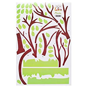 HYPNOS Children Kids DIY Room Removable Jungle Zoo Monkey Tree Owl Bird Vinyl Decal Home Decoration Wallpaper Sticker from Hypnos Home