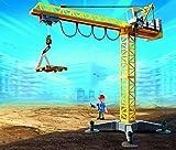 Playmobil - 5466 - Figurine - Grande Grue De Chantier Avec Télécommande Infrarouge