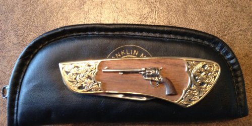 Franklin Mint Colt Collectible Knife - Single Action Army Peacemaker Folder