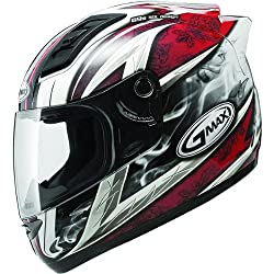GMAX GM69 Crusader II Men's Full Face Motorcycle Helmet - White/Red