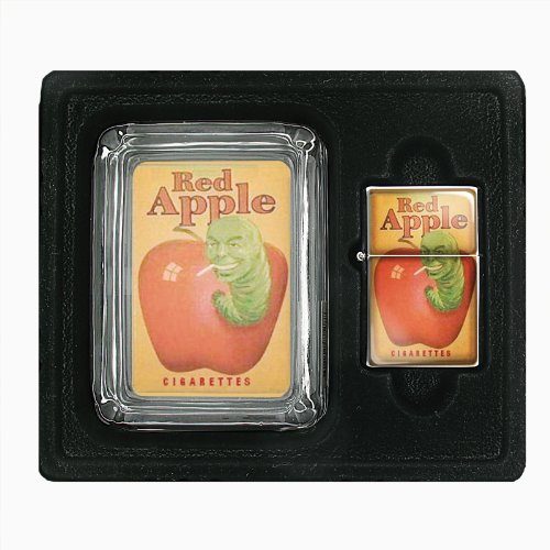 Red Apple Cigarette Green Worm Jumbo Size Huge Big Giant 6.5 Inch Electronic Lighter D-021