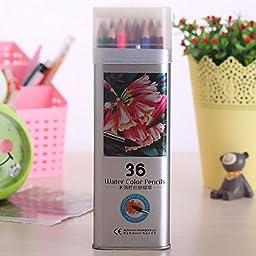 Wholesale price 3.3 mm core water color Drawing Pencils 48 Colored Pencil lapis de cor School Supplies metal box Painting Pencil (W#2)