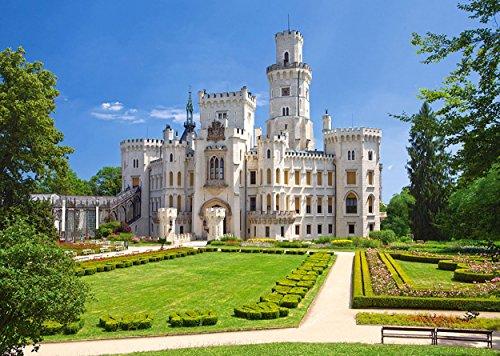 Puzzle 1000 Teile - Schloß Frauenberg - Hluboka nad Vltavou - Tschechien Tschechische Republik - Landschaft Schlößer Burg