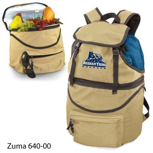 "Brigham Young Cougars NCAA ""Zuma"" Insulated Backpack (Beige) (Digital Print Logo)"