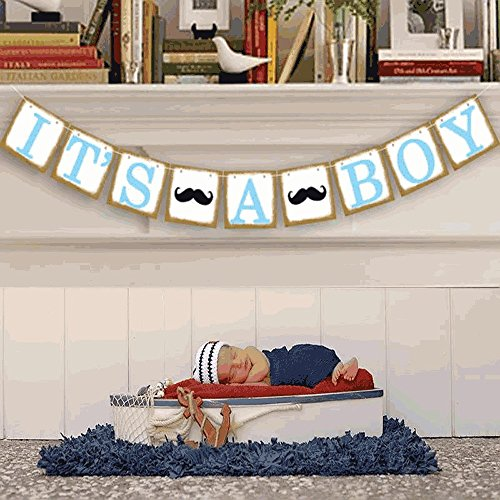 It's a Boy Banner Baby Shower Banner Garland, Baby shower Decoration, Photo Booth Props, New Contemporary Design from UsASales Seller (Dashing Little Man Baby Shower compare prices)