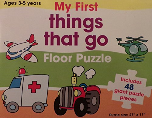 "My First Floor Puzzle ~ 48 pieces ~ ""Things that Go""."