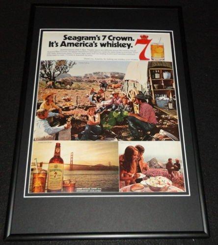 1972-seagrams-7-whiskey-framed-12x18-original-advertisement