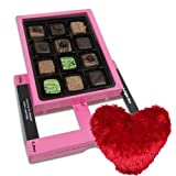 Valentine Chocholik's Belgium Chocolates - Fabulous Creation Of Pralines Chocolates For Love One With Heart Pillow