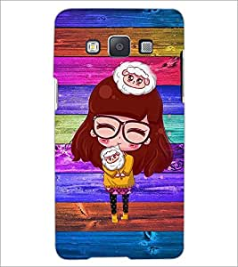 PrintDhaba Specy Girl D-4662 Back Case Cover for SAMSUNG GALAXY A5 (Multi-Coloured)