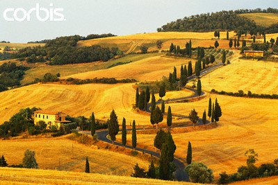 "Wallmonkeys Peel and Stick Wall Decals - Italian Countryside of Val D'orcia - 36""W x 24""H Removable Graphic"