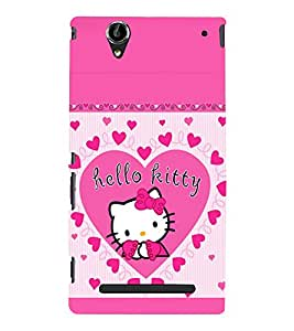 printtech Kitty Cute Back Case Cover for Sony Xperia T2 Ultra::Sony Xperia T2 Ultra Dual