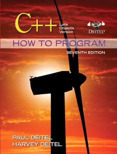 C++, 7th Edition (How to program)