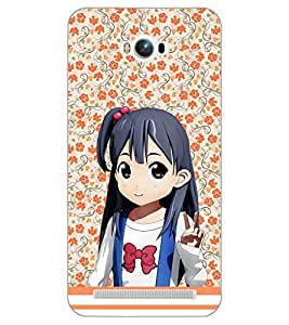 PrintDhaba ANIMO GIRL D-6384 Back Case Cover for ASUS ZENFONE MAX ZC550KL (Multi-Coloured)