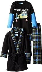 Bunz Kids Little Boys' Plaid Bathrobe and Pajama Set