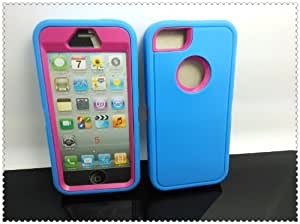 Generic MC0030 Cell Phone Case for iPhone 5/5s - Non-Retail Packaging - Blue & Pink