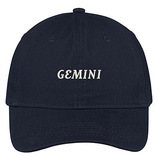horoscopes-gemini-embroidered-adjustable-cotton-cap-navy