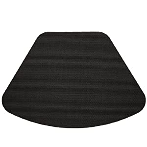 Black Wipe Clean Wedge Shaped Placemat For Round Tables